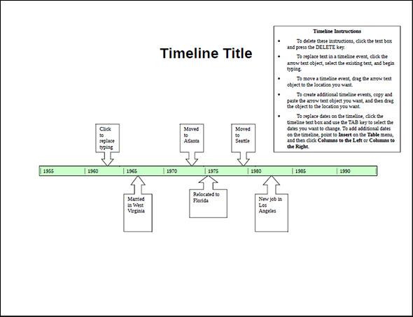 sample timeline templates