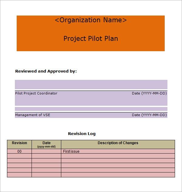 7 project plan templates sample templates for Project outline template microsoft word