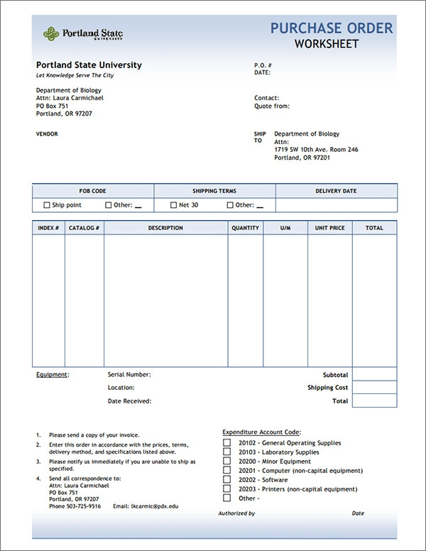purchase order template 4pwGfTri
