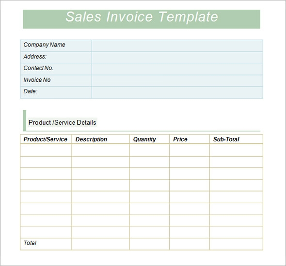 Sales Invoice Templates - 10+ Download Free Documents in Word, PDF ...