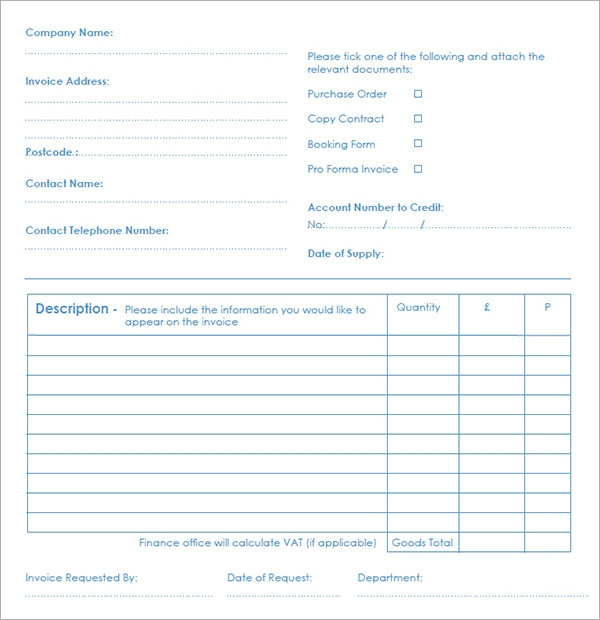 Editable Invoice Template Pdf Download Search Results