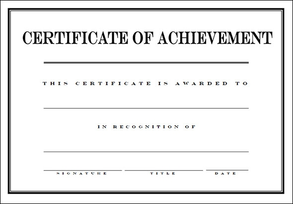 Award Certificate Template 29 Download in PDF Word Excel PSD – Examples of Award Certificates