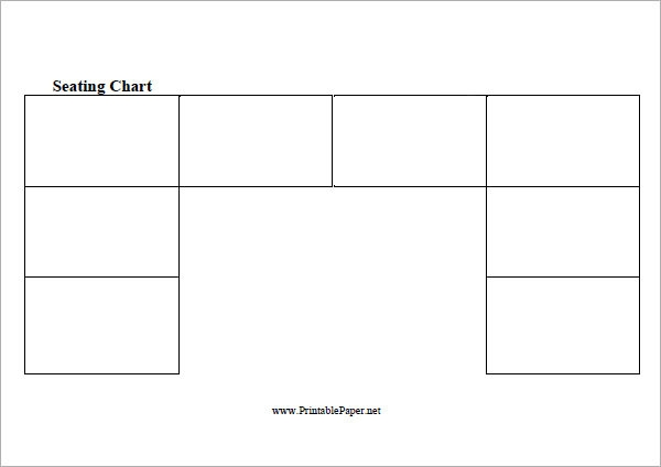 7+ Printable Free Seating Chart Templates | Sample Templates