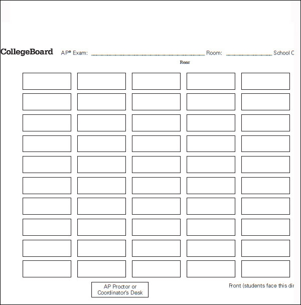 seating chart templates