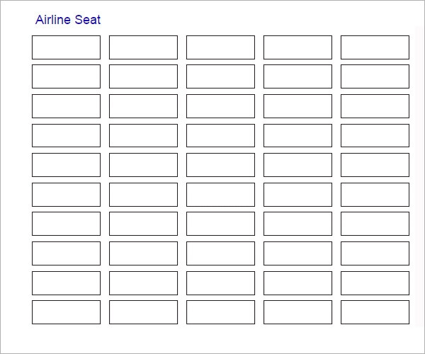 airline seating chart