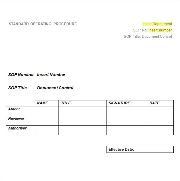 Free Sop Template. Are SopS The Secret To Crm Adoption Success Sop ...