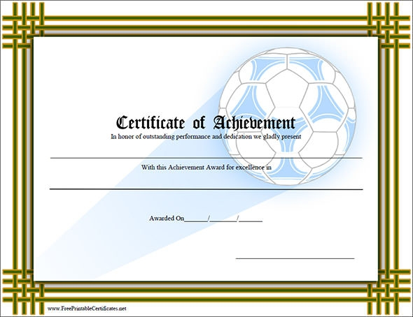 38 best certificate of achievement templates