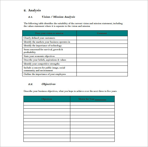 Sample strategic plan template flashek Images
