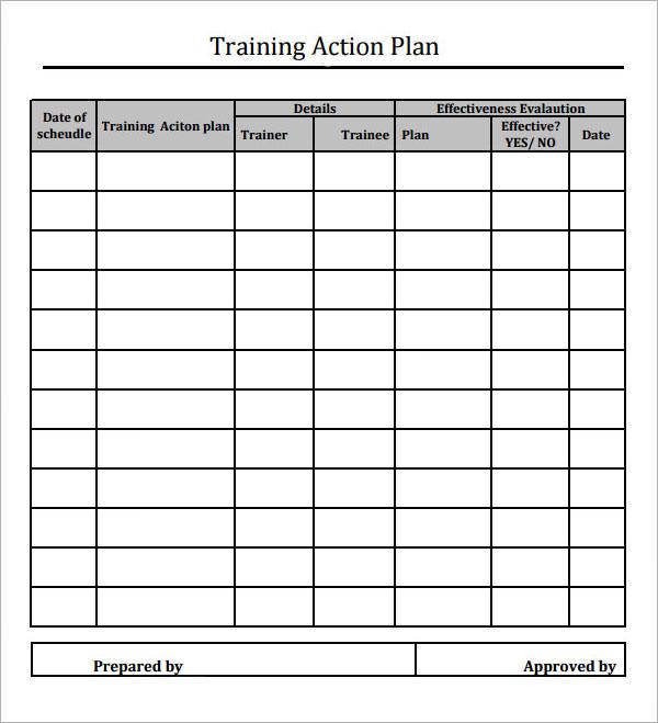 training matrix template free download