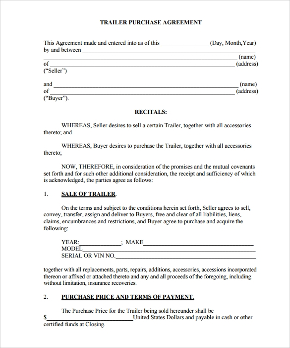 Purchase Agreement 8 Download Free Documents in PDF Word – Purchase Agreement Template