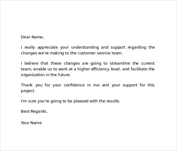 letter of appreciation to employee