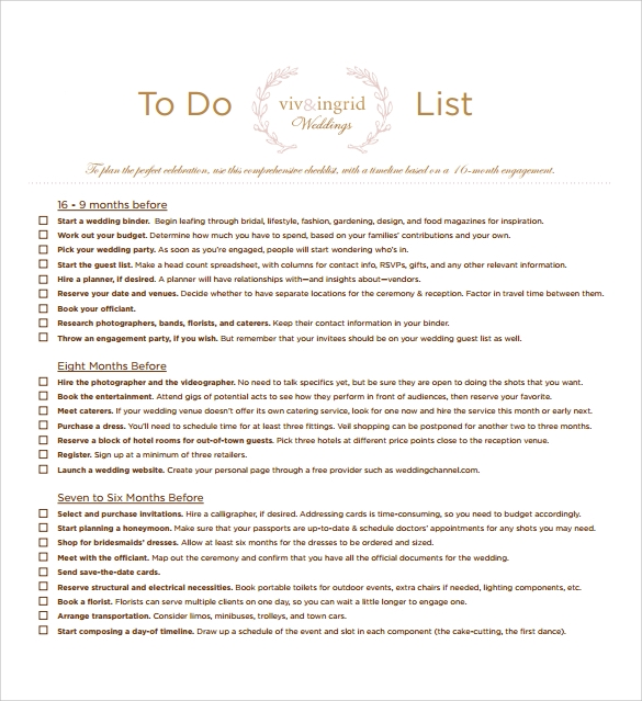 To Do List Template 16 Download Free Documents in Word Excel PDF – To Do Templates Free