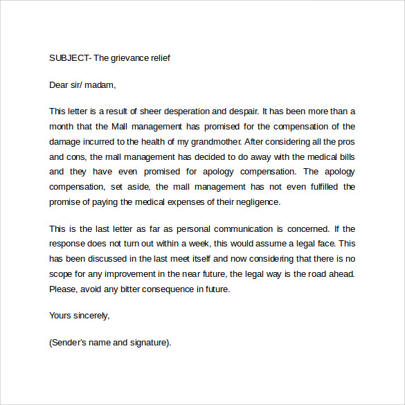 Formal Letter Format Business