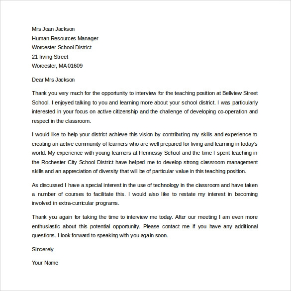 Thank You Letter to Teacher 11 Download Free Documents in PDF Word – Thank You Letter to Mentor