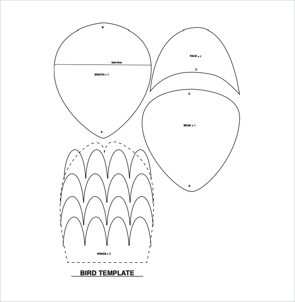 Bird Templates 14 Download Documents in PDF – Bird Template