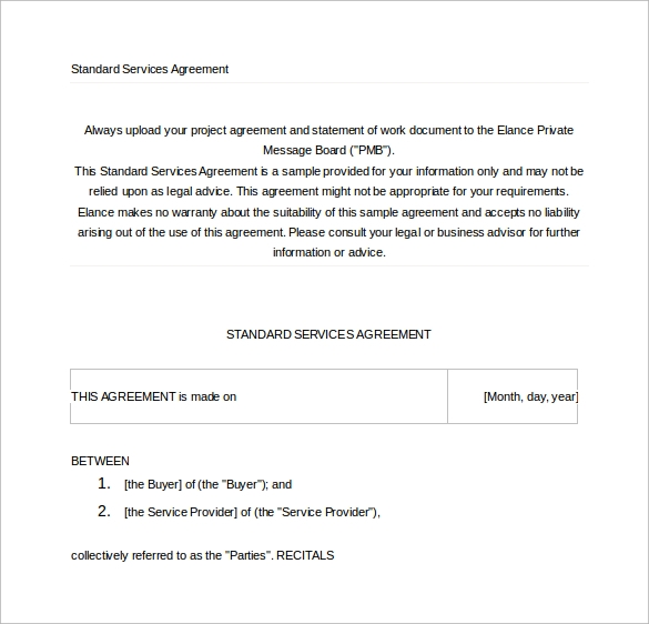 Sample Contract Agreement 13 Free Documents Download in PDF Word – Free Service Agreement Template