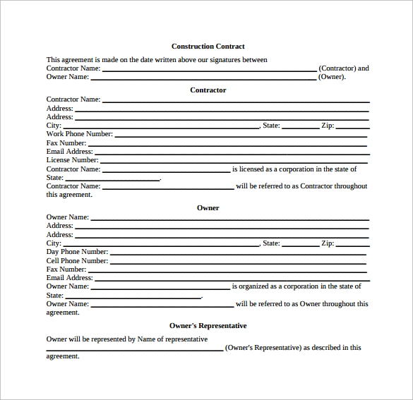 52 contract agreement templates sample templates for Builder contract for new home