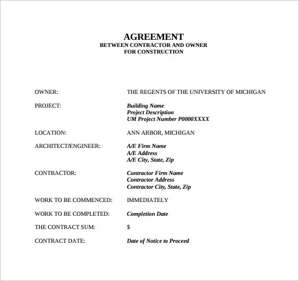 Sample Contract Agreement - 43+ Free Documents Download In Pdf, Word