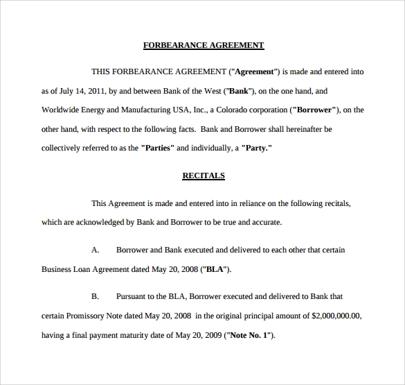 Awesome Forbearance Agreement To Download