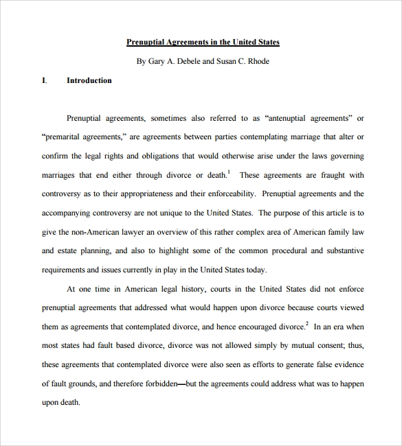Prenuptial Agreement 8 Download Documents in PDF – Sample Prenuptial Agreement Template