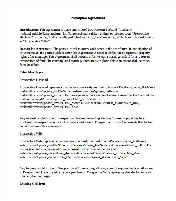 Prenuptial Agreement - 8+ Download Documents in PDF