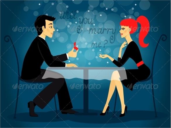 editable eps marriage proposal