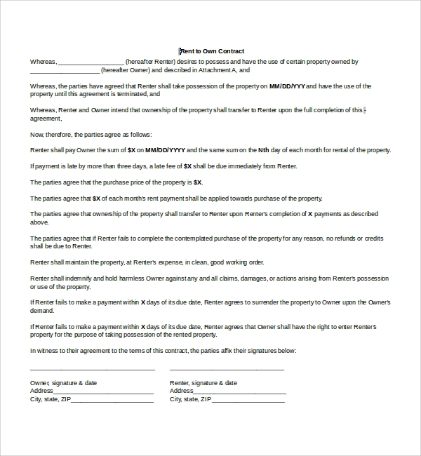 Sample Lease Agreement   Free Documents In Pdf