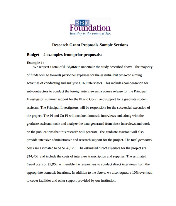 Grant Proposal Template   Download Free Documents In Pdf Word Rtf
