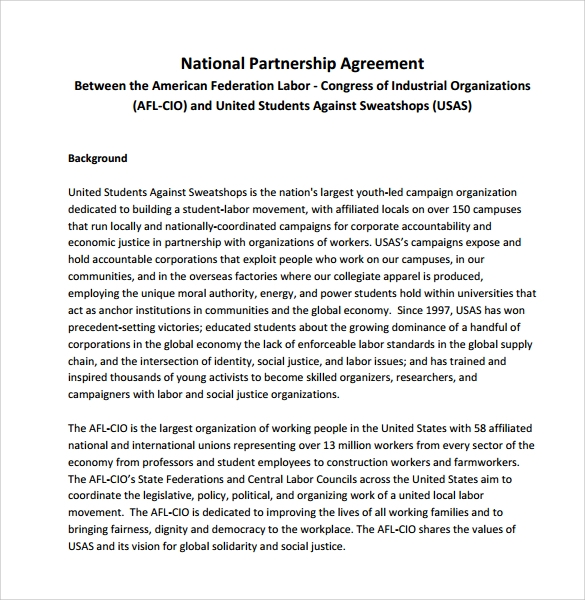 Lovely National Partnership Agreement