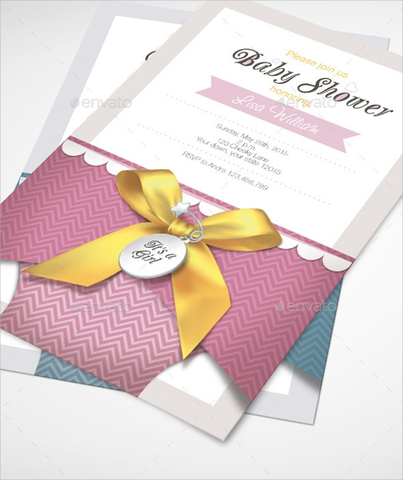 Baby Shower Invitation Card Template  Baby Shower Invitation Template Download