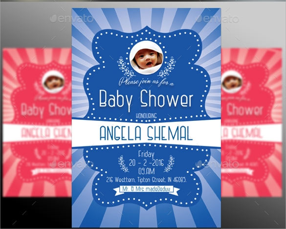 attracting baby shower invitation