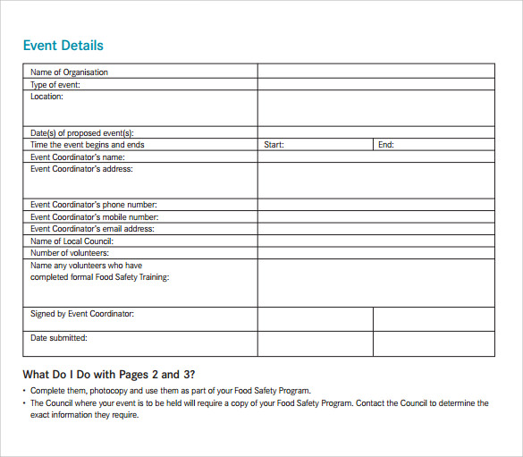food safety event program template 1