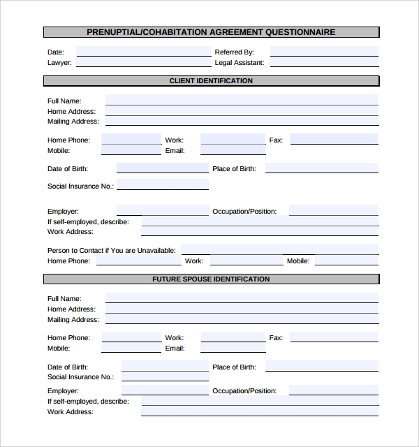 Sample Cohabitation Agreement   Documents In Word Pdf