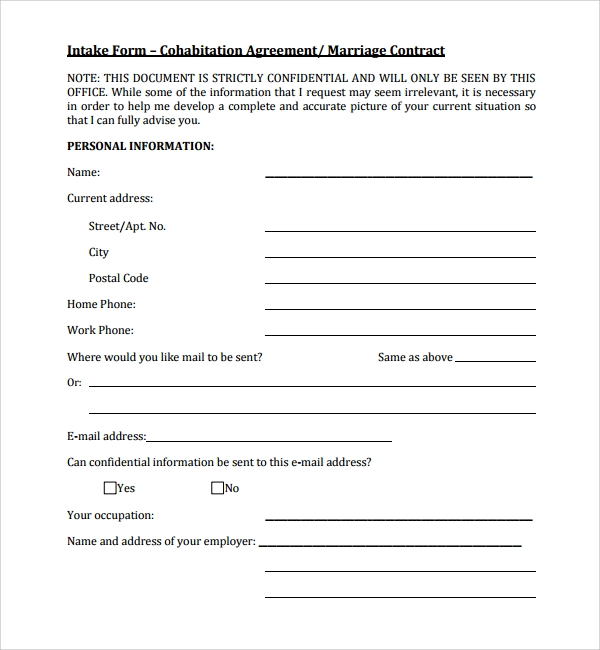 Sample Cohabitation Agreement - 6+ Documents In Word, Pdf