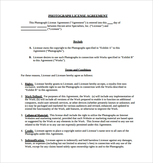 12 License Agreement Templates Download For Free Sample Templates