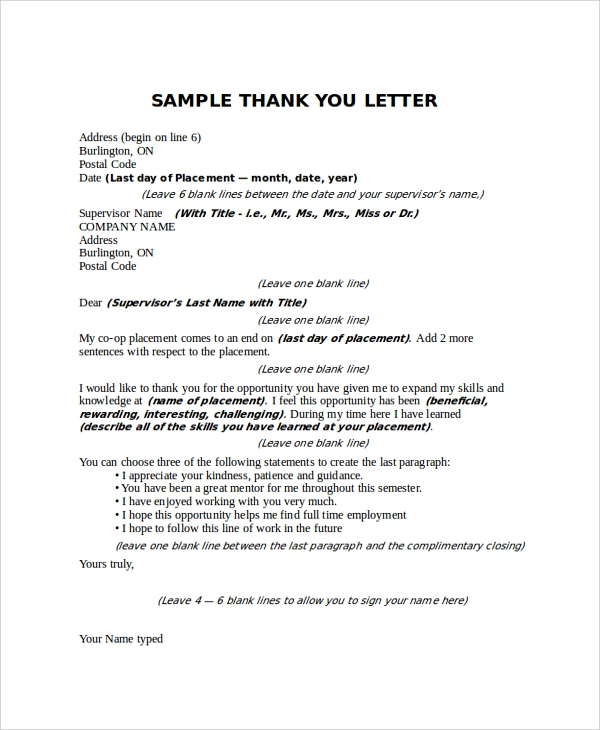 thank you letter to boss sample thank you letter to 16 free documents 25118 | Thank You Letter To Boss for Appreciation