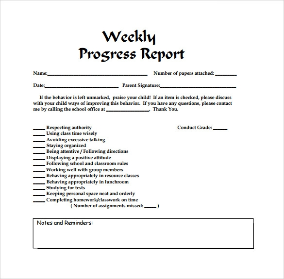 Weekly Report Template   12  Download Free Documents in PDF wKixHyUg