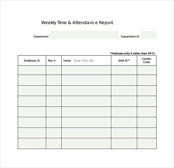 Sample Weekly Report Templates to Download for Free