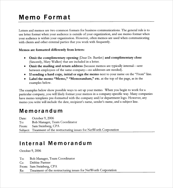 commerce introduction memo to newer client template