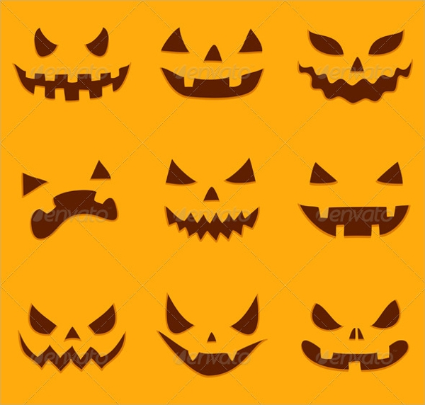 vector eps pumpkin carving template