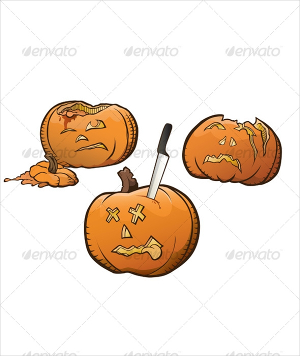 curved pumpkin template