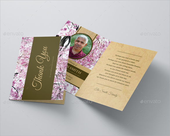 funeral thank you card template