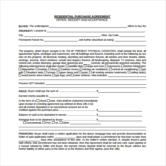 16 Sample Purchase Agreement Templates To Download Sample Templates