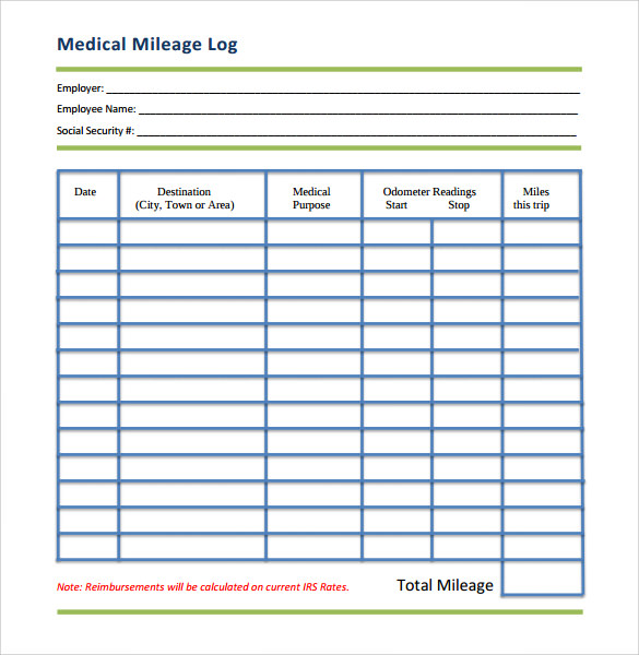 picture regarding Printable Mileage Log identified as Free of charge 12+ Pattern Mileage Log Templates Within just PDF Document
