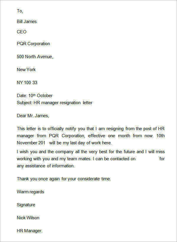 free 14  sample two weeks notice letters in doc