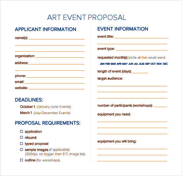 Captivating Art Event Proposal Template