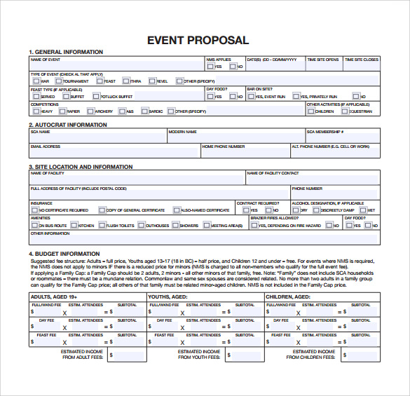 Event Proposal Template U2013 16+ Download Free Documents In PDF, Word