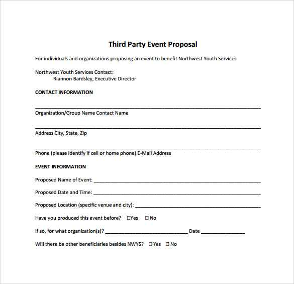 Sample Event Proposal Template   21  Free Documents in PDF Word B5sgqJSo