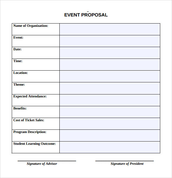 event proposal template .