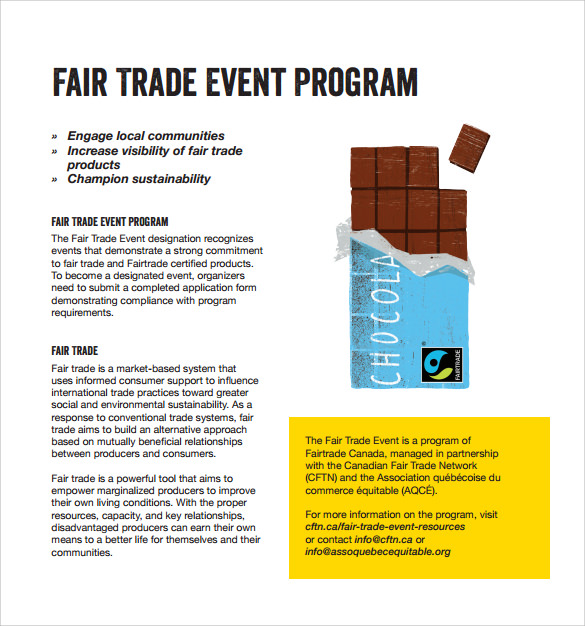 fair trade event program template